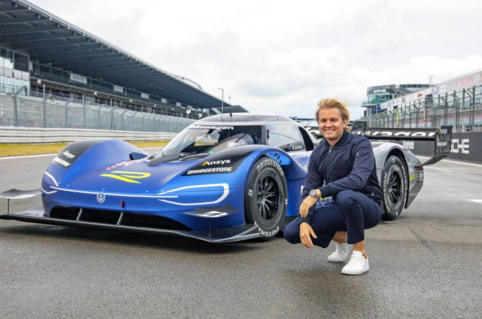 NICO ROSBERG TESTS THE VOLKSWAGEN ID.R ELECTRIC SPORTS CAR